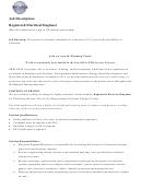 Sheladia Job Description: Registered Electrical Engineer