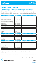 Child Care Centre - Cleaning And Disinfecting Schedule Template