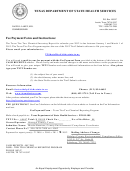 Fee Payment Form And Instructions Texas