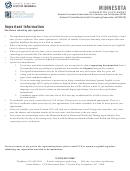 Minnesota Licensure Examination Registration Form