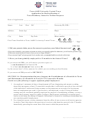 Texas Am University Central Texas Application For Reclassification