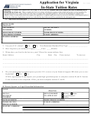 Application For Virginia Instate Tuition Rates