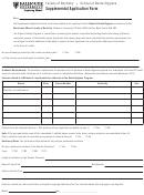 Supplemental Application Form - Dalhousie University