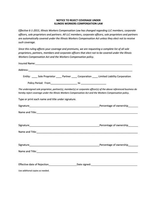 il executive officer exclusion form