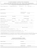 Application For Adjustment Of Claim (application For Benefits)