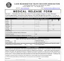 Medical Release Form - Lake Washington Youth Soccer Association