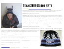 Team 2809 Robot Hats
