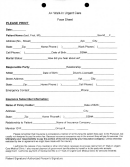 Walk In Urgent Care Face Sheet