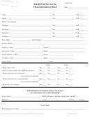 Tax Service Client Information Sheet