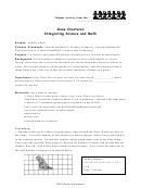Grow Creatures - Integrating Science And Math Worksheet