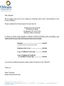 Alumni Document Request Form - Orleans Technical Institute