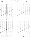 Isometric Dot Paper For Graphing In 3-dimensions