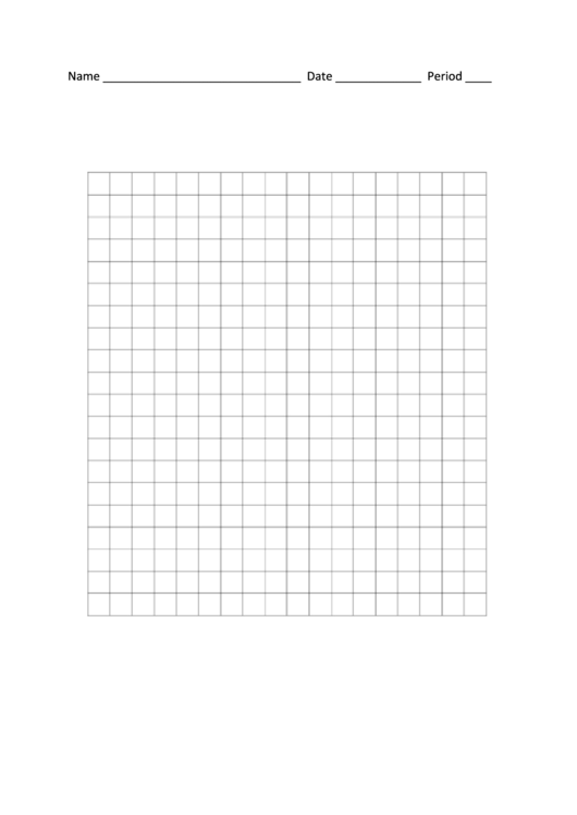 Graph Paper Template Printable pdf