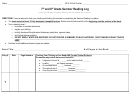 7th And 8th Grade Summer Reading Log Template