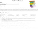 7th & 8th Grade Reading Log