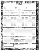 Attributes Abilities Advantages Sheet
