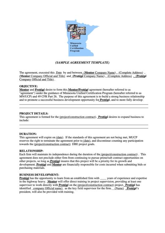Sample Agreement Template Printable pdf