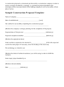 Sample Construction Proposal Template