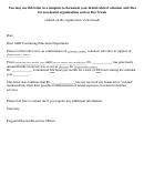 Volunteer Activities Confirmation Letter Template