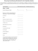 Recycling Costs/savings Worksheet Template