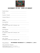 Gourmet To Go Sign Up Sheet