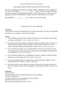 Sample Bulletin Announcement Sample Prayers Of The Faithful
