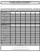 Monthly Financial Worksheet