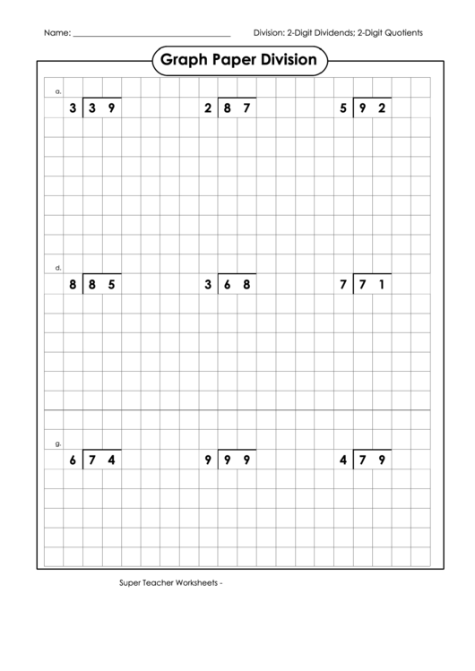graph paper division printable pdf