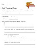 Goal Tracking Sheet