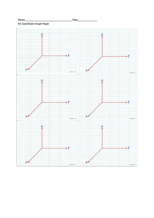 R3 Coordinate Graph Paper Printable pdf