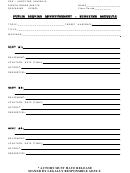 Public Service Announcement - Shooting Schedule Template