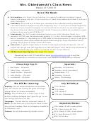Second Grade Weekly Worksheet