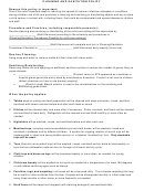 Cleaning And Sanitation Policy Template