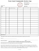 Teen Court Community Service Log Template