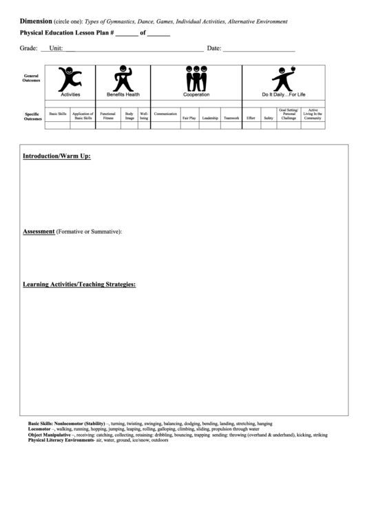 Top Pe Lesson Plan Templates Free To Download In Pdf Format
