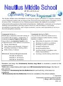Nautilus Middle School Community Service Log Sheet