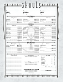 Ghoul Interactive Character Sheet