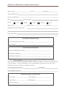 Child Care Medication Authorization Form