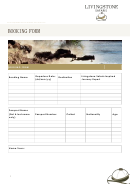 Booking Form - Livingstone Safaris
