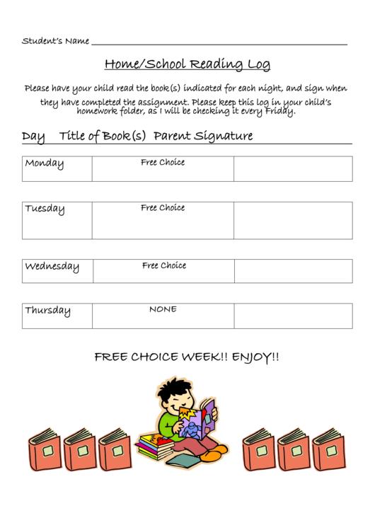 Home/school Reading Log