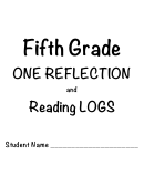 Fifth Grade One Reflection And Reading Logs