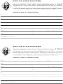 Photo Publication Release Form Photo Publication