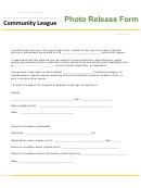 Photo Release Form - Community League