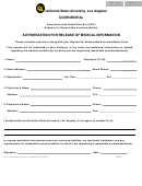 Ada Medical Release Form California State University Los Angeles