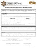 Medical Release Form - Monterrey County Sheriff