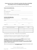 Enrollment Form For Medicaid Recipients