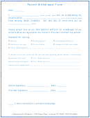Parent Withdrawal Form