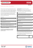 Authority To Obtain Information Form