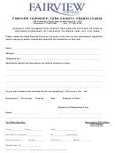 Right To Know Request Form - Fairview Township