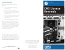Ems License Renewals